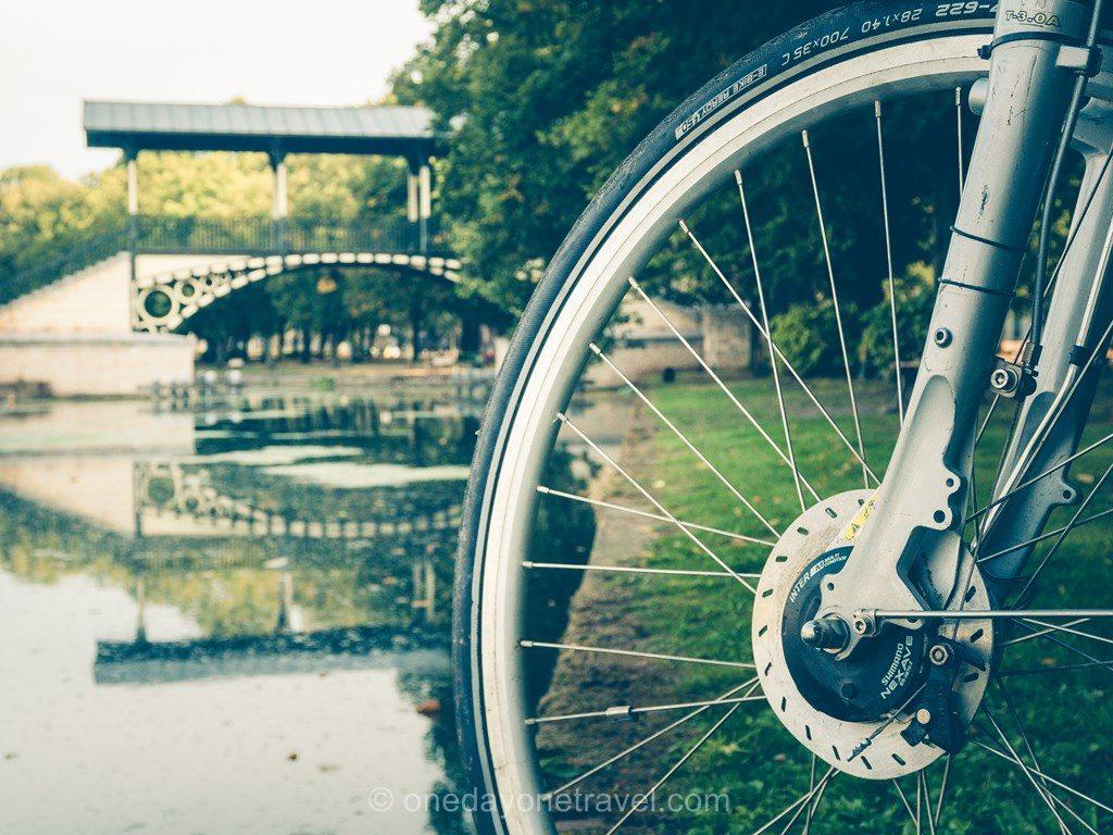 vélo le long du canal Lille