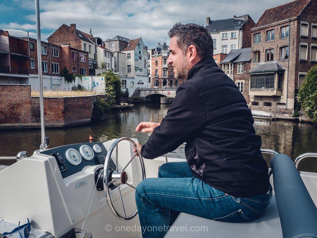 Arrivée gand bateau sans permis Franck
