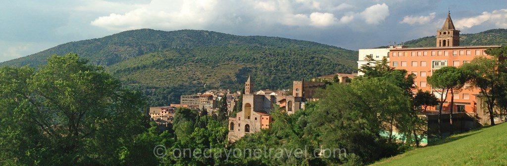 Villa d'Este Tivoli campagne vallonnée
