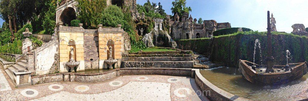 Villa Este Tivoli  jardin fontaine villa