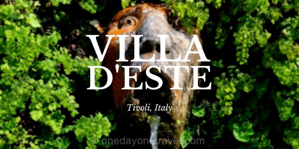 Villa d'Este Tivoli Italie sud blog voyage