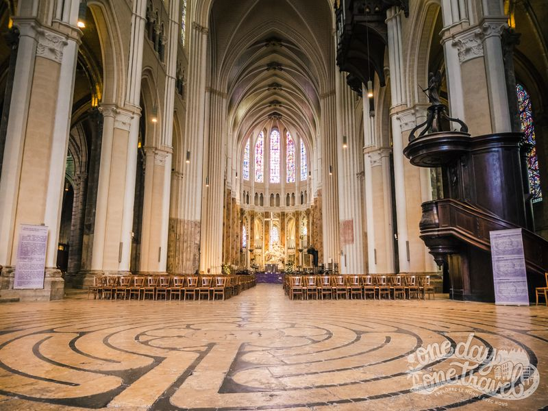 Visiter Chartres labyrinthe cathédrale