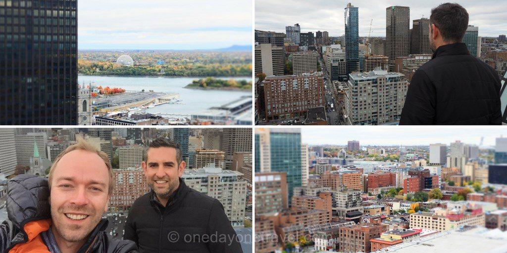 Visiter Montréal vue depuis intercontinental