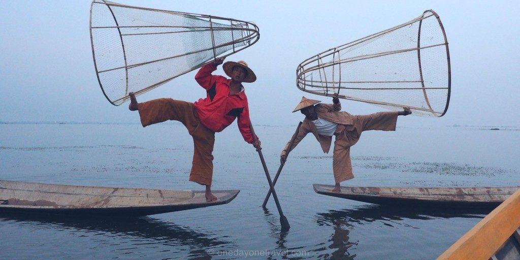 Voyage au Myanmar Lac Inle Pecheurs