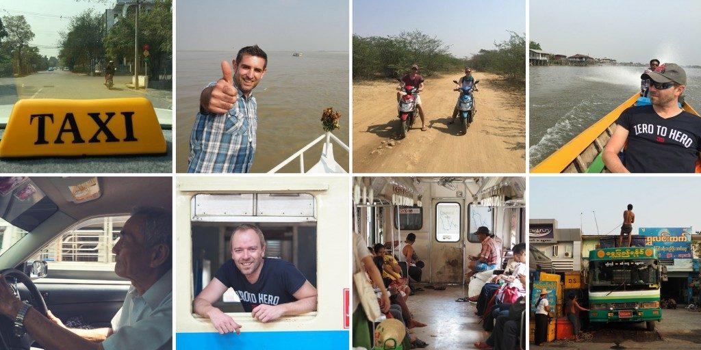 Voyage au Myanmar Transports birmans