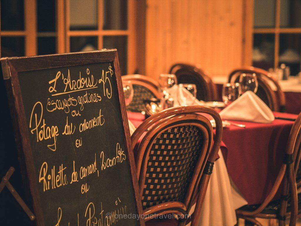 Windigo Laurentides restaurant