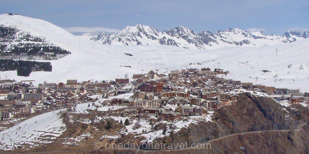 alpe huez vue du ciel Le Printemps du ski