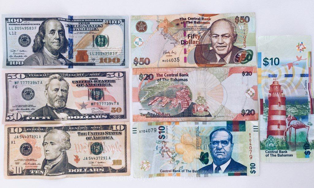 voyage aux bahamas billets argent