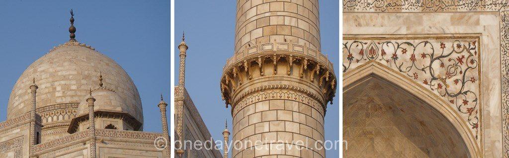 détail Taj Mahal blog voyage