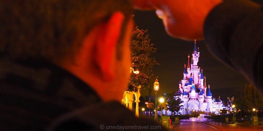 disneyland paris de nuit chateau Franck