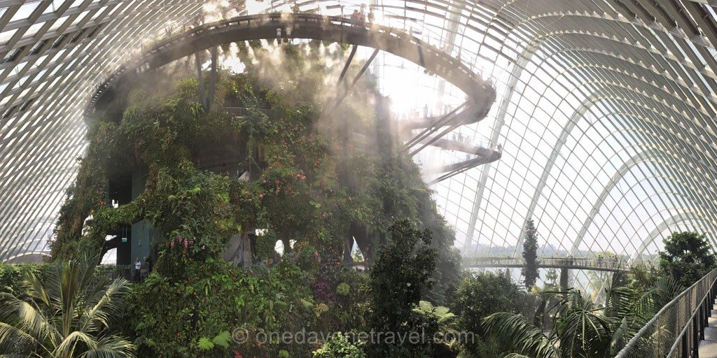 escale singapour cloud forest