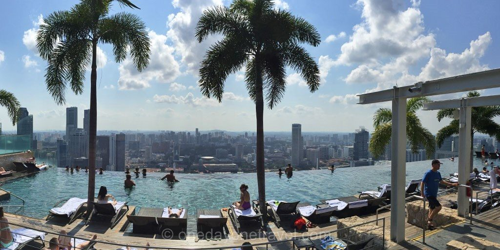 escale singapour marina bay sands piscine