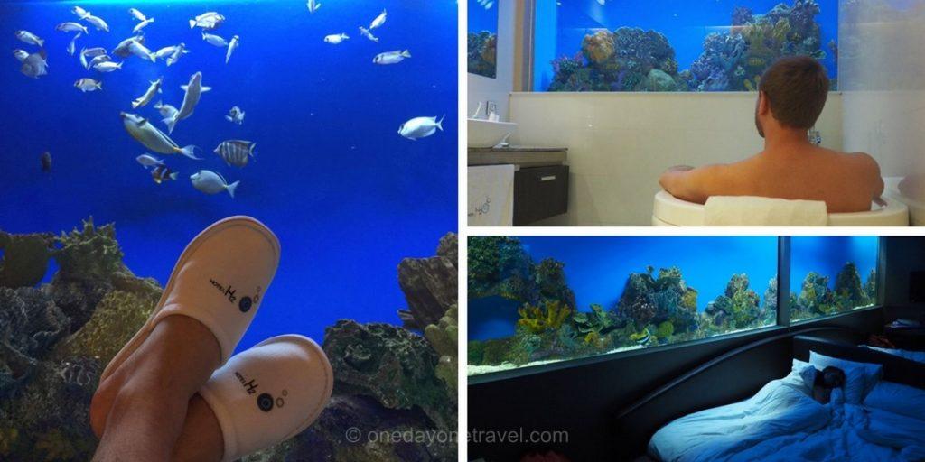 hotel h2o chambre aqua Manille Philippines