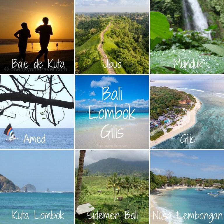 Voyager à bali Lombok Indonésie