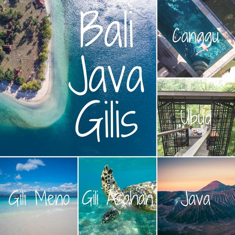 Voyager à Bali Java Gilis Indonésie