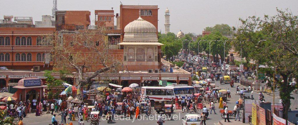 jaipur vieille ville vue du haut