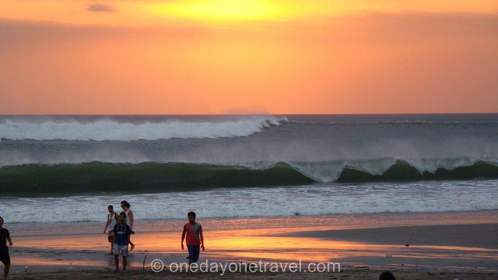 kuta Bali coucher de soleil