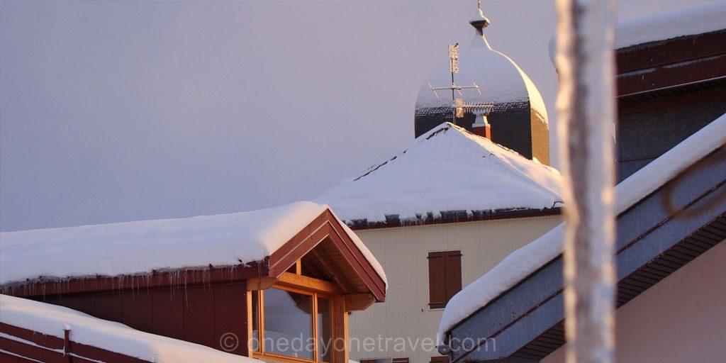 la station des rousses eglise soleil Montagnes du Jura