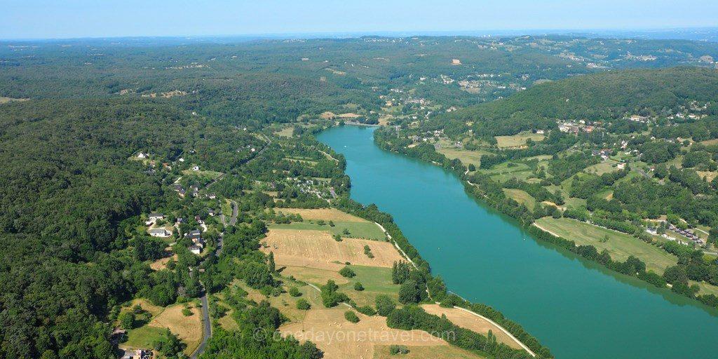 Lac de Causse vue ULM Pays de Brive