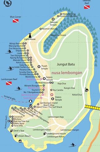 lembongan map