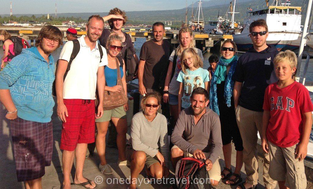 les voyageurs en croisiere en indonésie