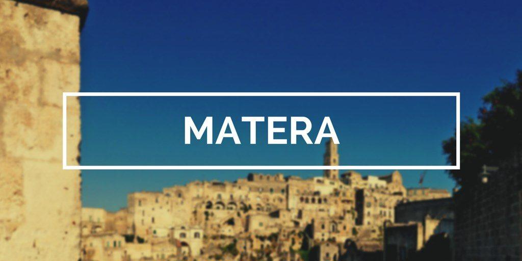 matera blog voyage