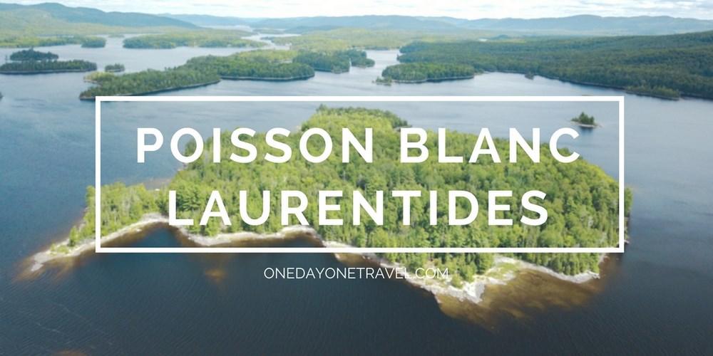 parc du lac du Poisson Blanc Road trip dans les laurentides
