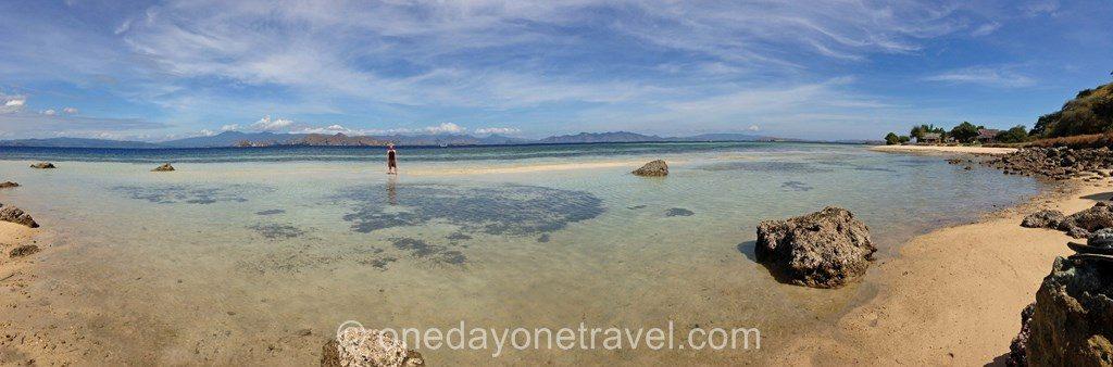 plage deserte Kanawa island