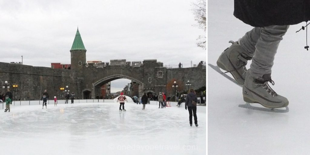 Visiter Québec hiver patinoire