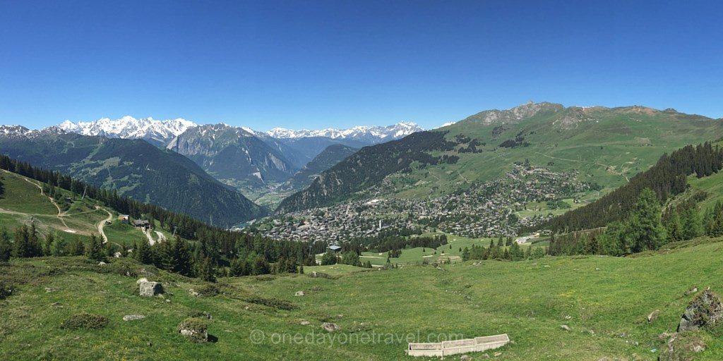 randonnee vue verbier Alpes