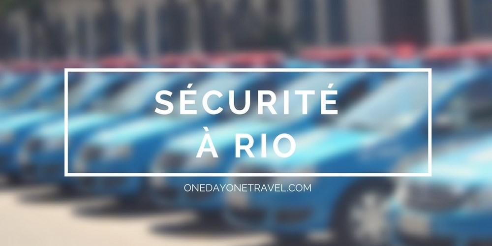 sécurité Rio de Janeiro Centro blog voyage