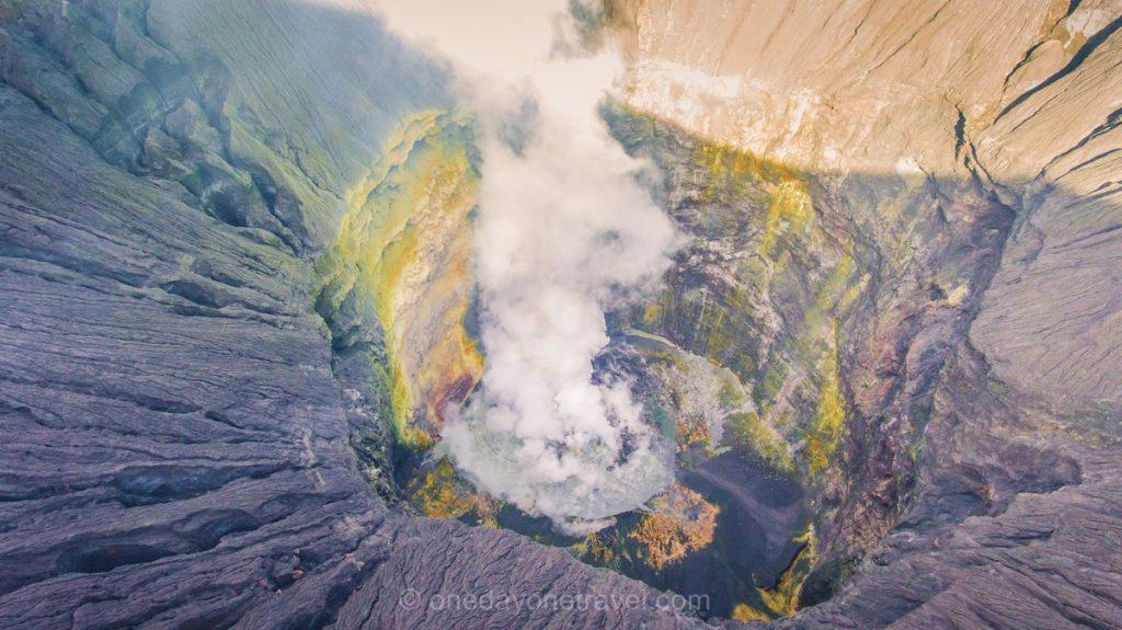 volcans de java bromo fumée