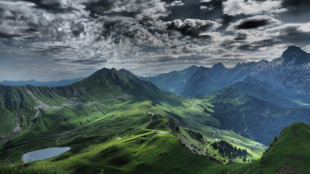 vue depuis Mont Lachat Grand Bornand Alpes