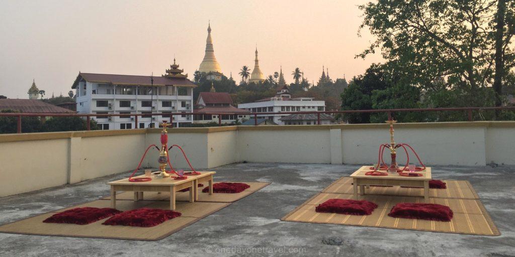 vue sur la pagode Shwedagon