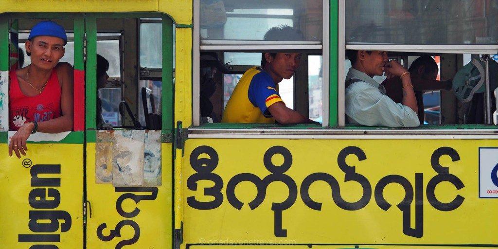 yangon bus Myanmar