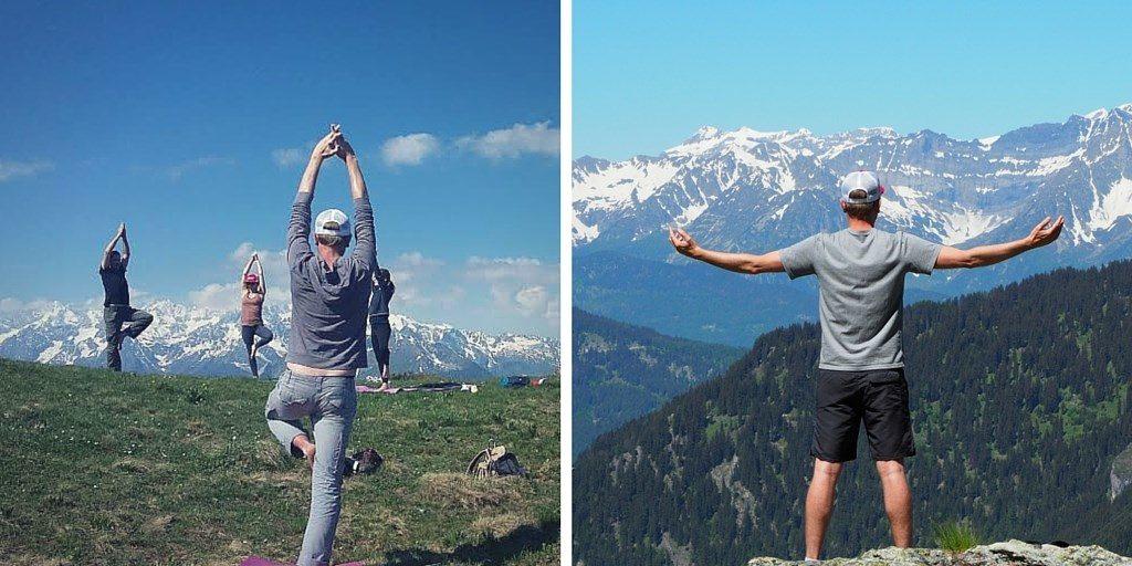 yoga verbier blog voyage Alpes
