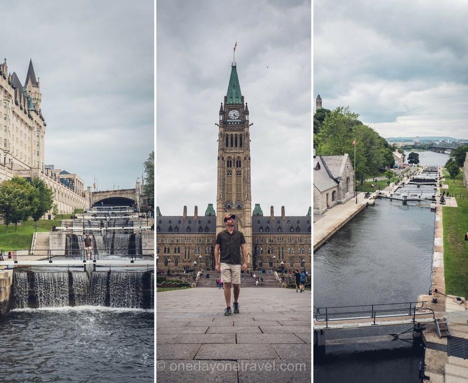 Ottawa canal rideau et Parlement