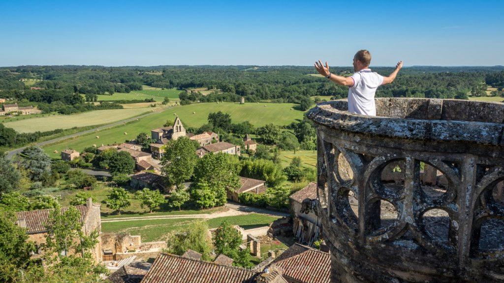 château de Biron Richard vue