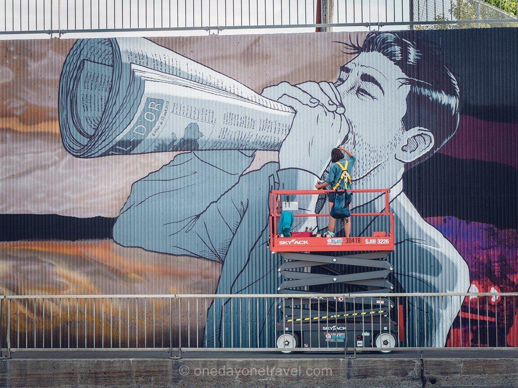 Rouyn Noranda Abitibi fresque street art