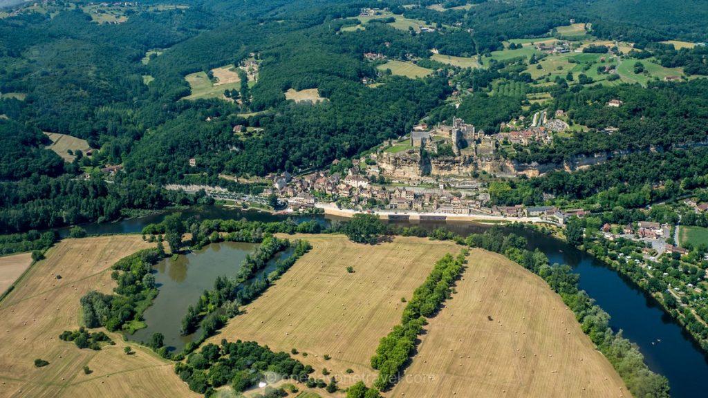Château de Castelnaud vue du ciel