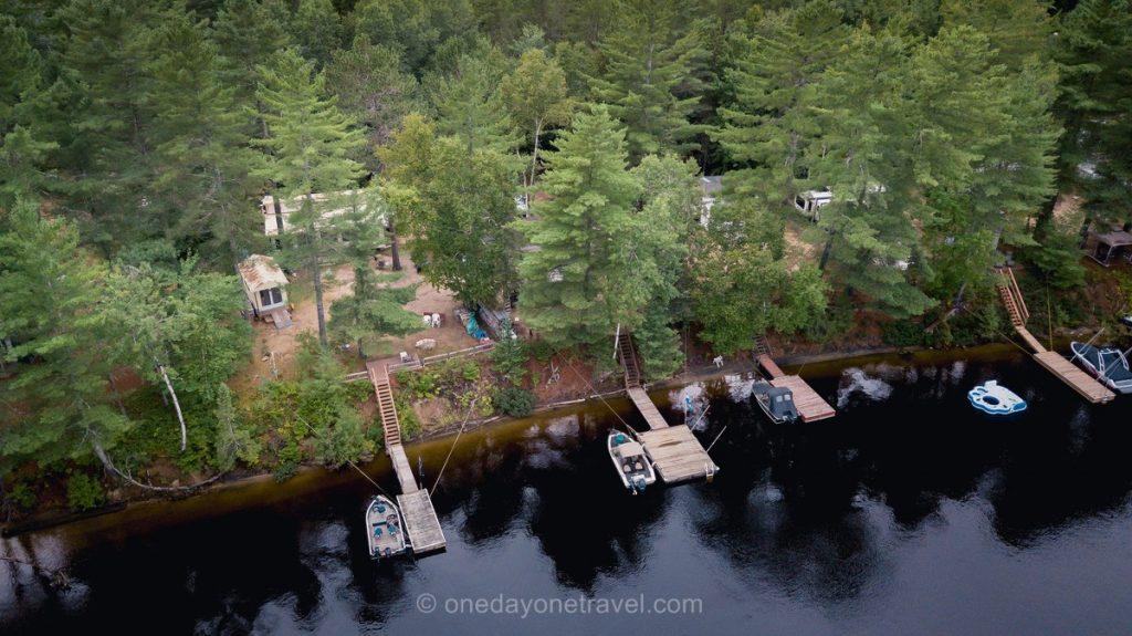 Rabaska Lodge Laurentides ponton