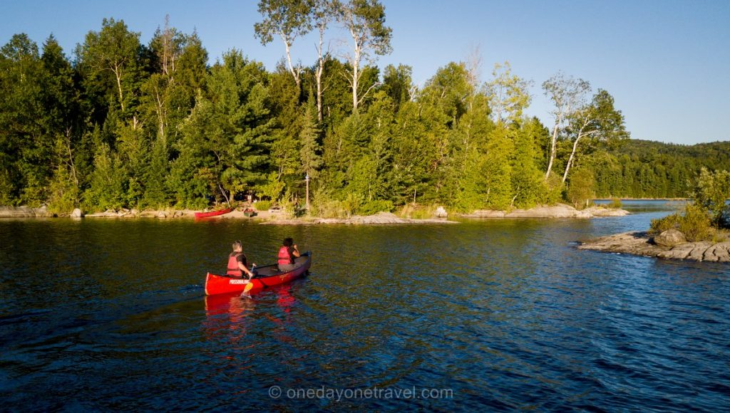 Camping au Lac du poisson blanc Laurentides