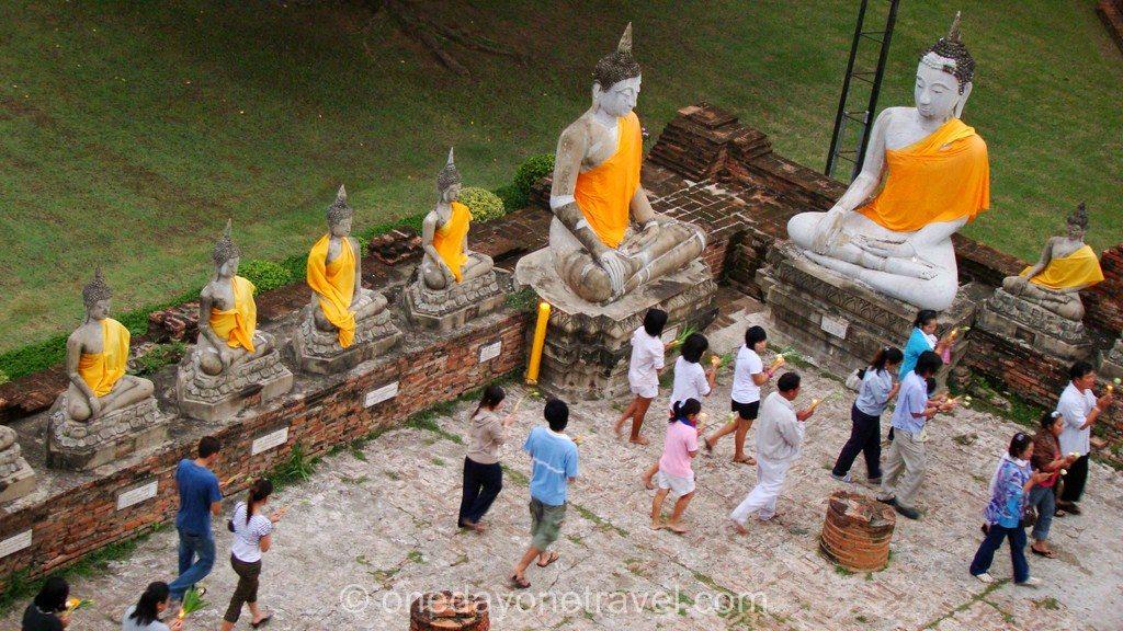Ayutthaya Expérience insolite Thailande blog voyage Ceremonie Bouddhiste