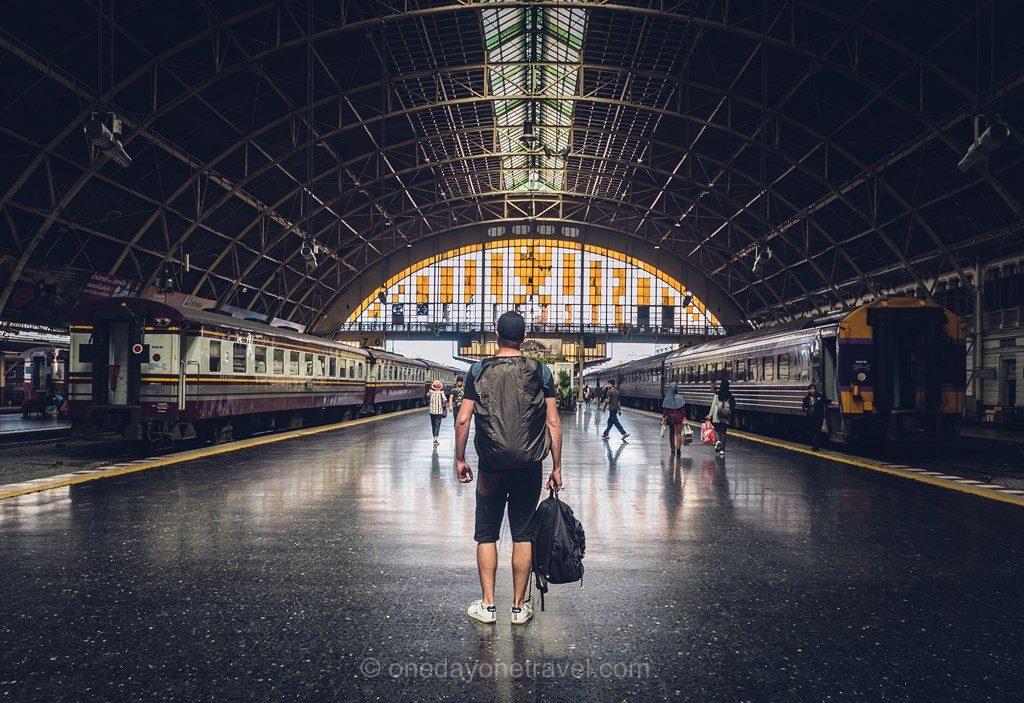 Ayutthaya en train gare Bangkok