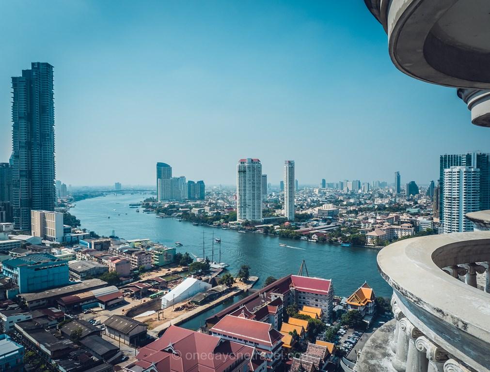 Bangkok Ghost Tower Thaïlande vue Chao Praya Blog Voyage
