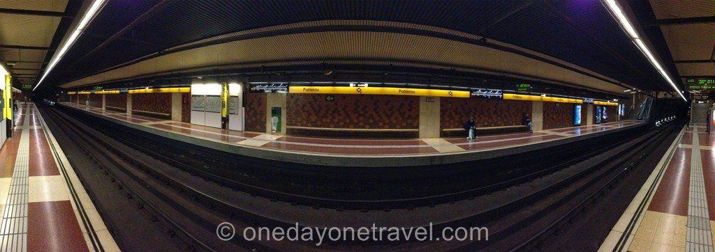 Barcelone se déplacer transports métro
