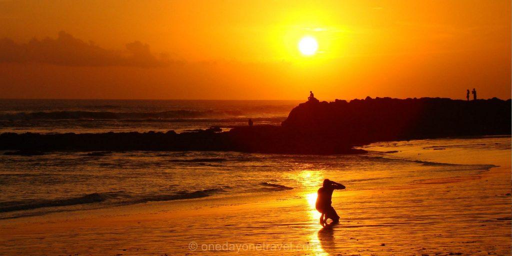 Canggu coucher de soleil sunset