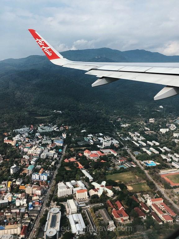 Chiang Mai Thaïlande Air Asia survol