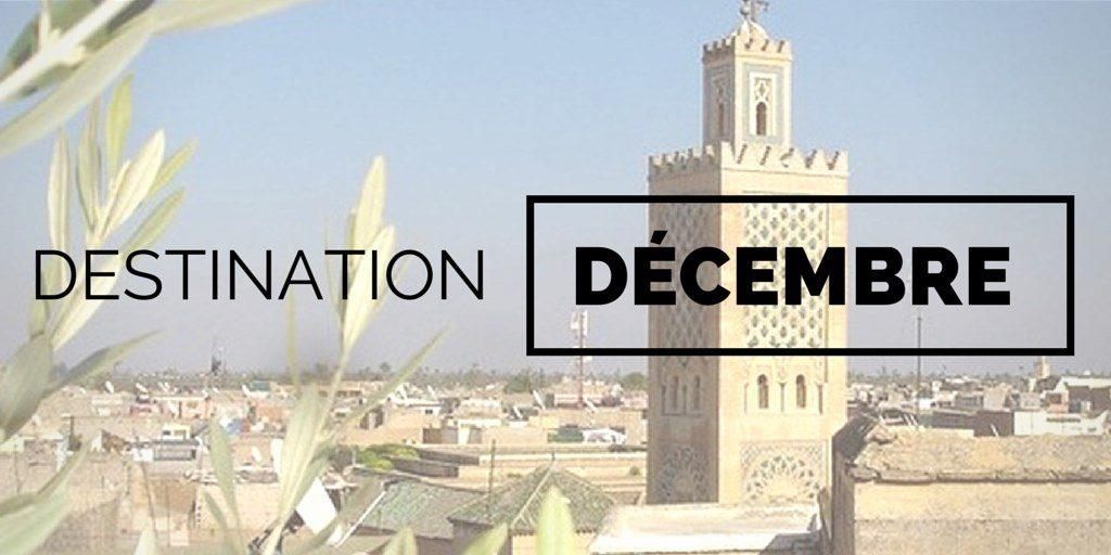 Destinations où voyager en décembre