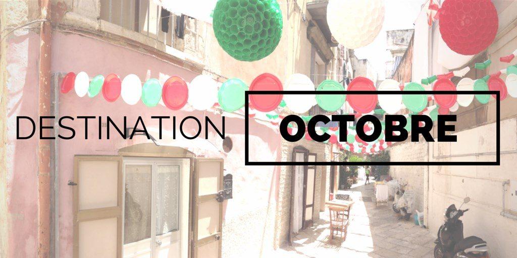 Destinations à visiter en octobre